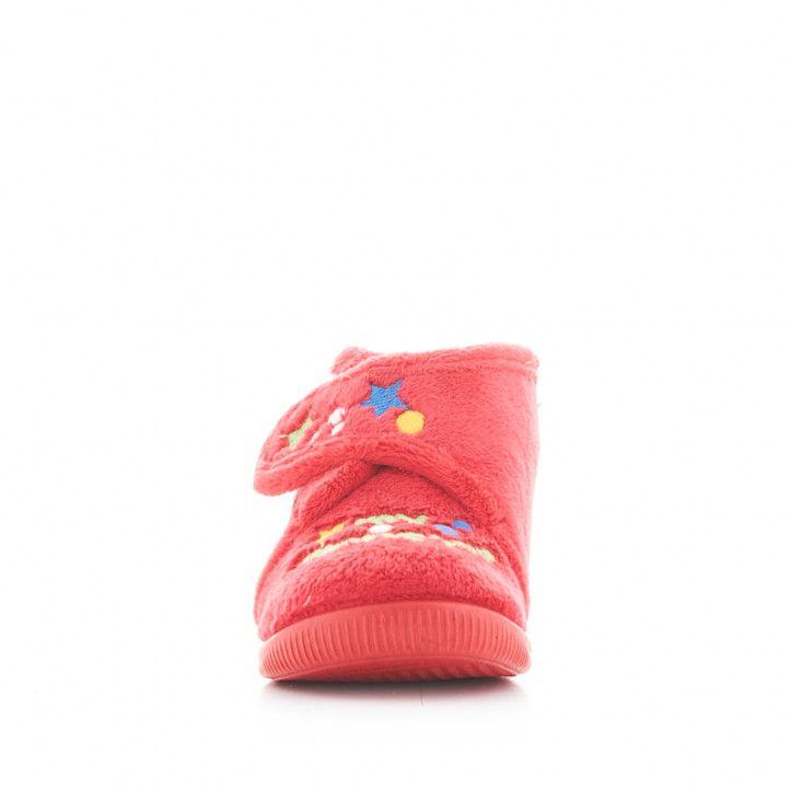 Zapatillas casa Vul·ladi rojas cerradas con dibujo de monstruo - Querol online