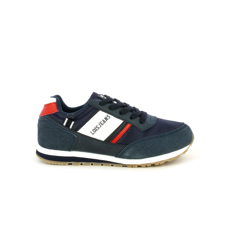 10394c1dcf Zapatillas deporte azules de cordones con detalles blancos y rojos Lois